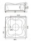 Акриловая ванна Gemy G9089 O L 187х187