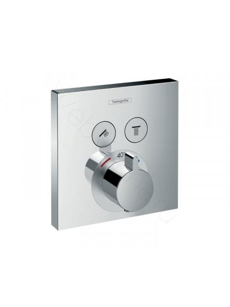 Смеситель встраиваемый Hansgrohe ShowerSelect с двумя запорными вентилями, СМ 15763000
