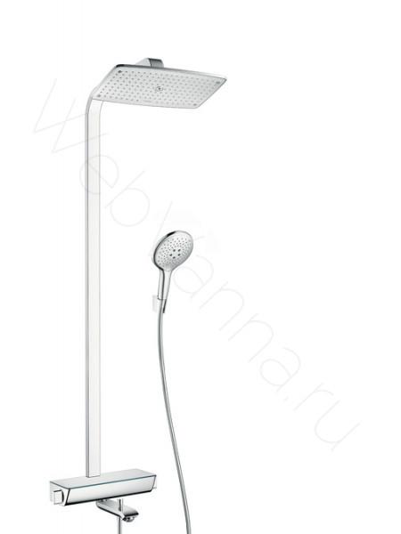 Душевая стойка Hansgrohe Raindance Select E 360 Showerpipe 27113000, хром, термостат, с изливом