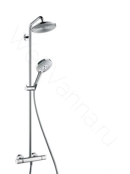 Душевая стойка Hansgrohe Raindance Select S 240 Showerpipe 27115000, хром, термостат