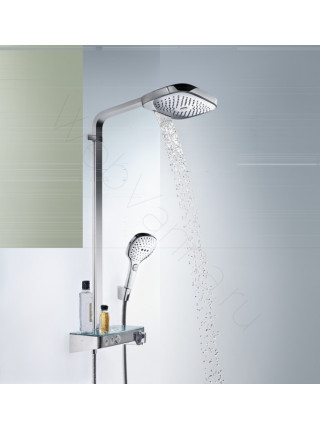 Душевая стойка Hansgrohe Raindance Select E 300 3jet Showerpipe 27127000, хром, термостат