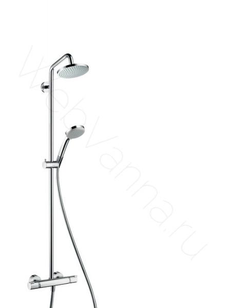 Душевая стойка Hansgrohe Croma 160 Showerpipe 27135000, хром, термостат