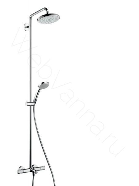 Душевая стойка Hansgrohe Croma 220 Showerpipe 27223000, хром, термостат, с изливом
