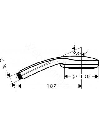 Ручной душ Hansgrohe Croma 100 Multi,  1/2 ' 28536000