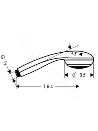 Ручной душ Hansgrohe Crometta 85 Green,  1/2 ' 28561000