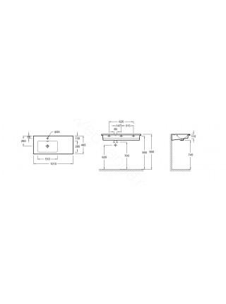 Раковина-столешница Jacob Delafon 1000мм VOX мебельная EXAC112-Z-00