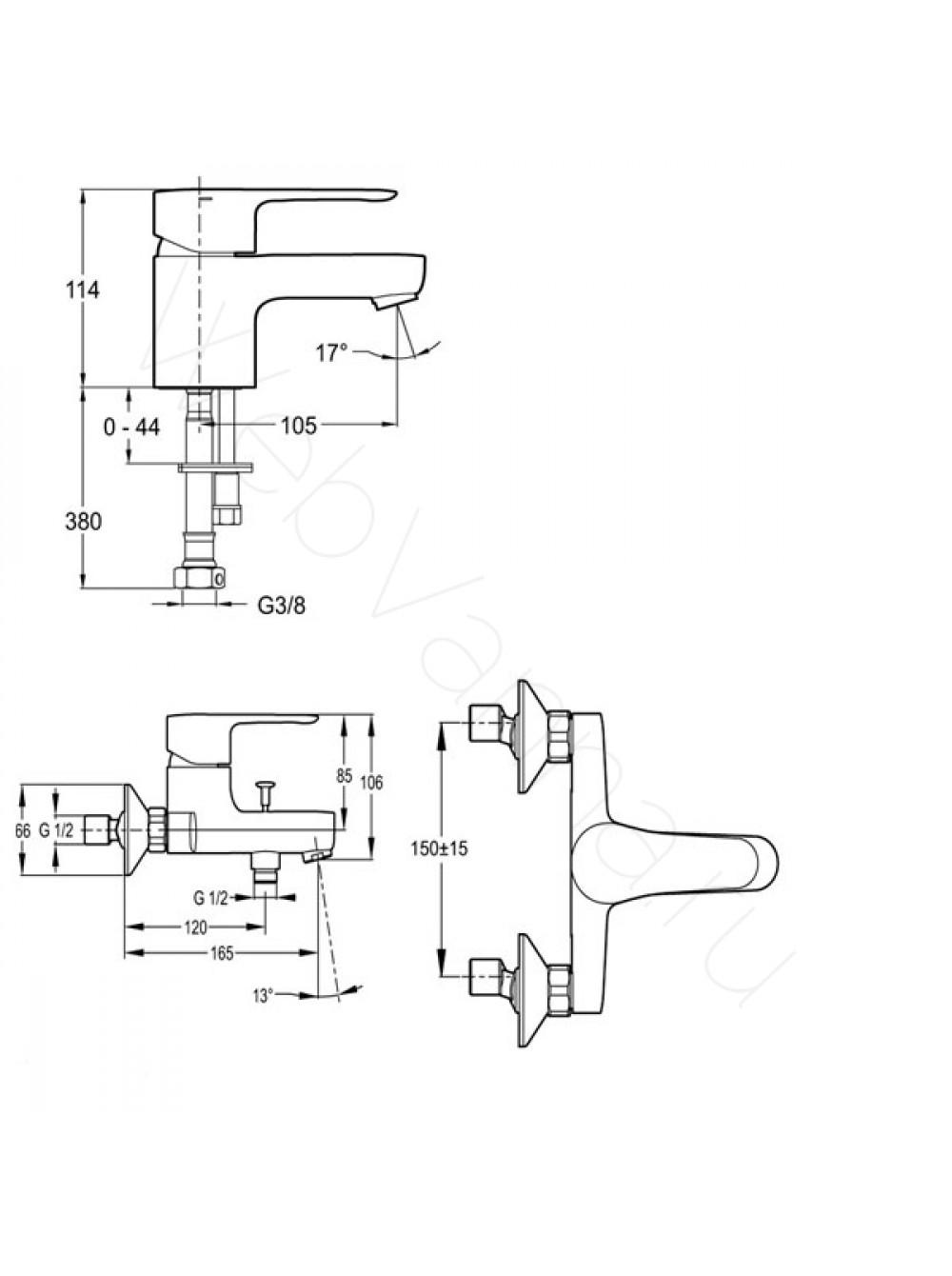 Jacob delafon душевая колонна july с термостатом (e5523-cp)