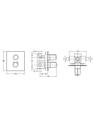 Смеситель для душа термостат Jacob Delafon Symbol E71689-CP
