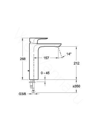 Смеситель для накладных раковин Jacob Delafon Aleo без д/к E72299-CP