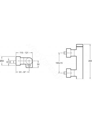 Смеситель для душа Jacob Delafon Composed E73091-CP