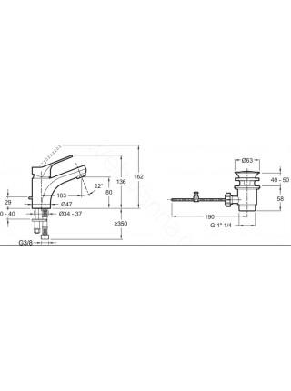 Смеситель для раковины Jacob Delafon Brive E75759-CP