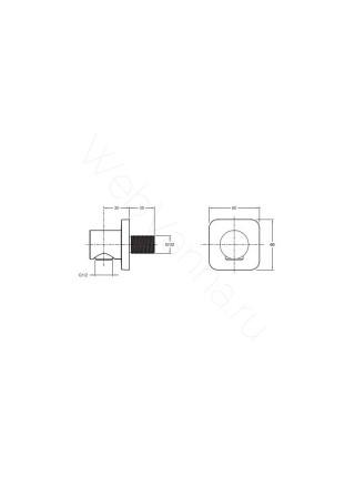Коленное соединение Jacob Delafon E8463-CP