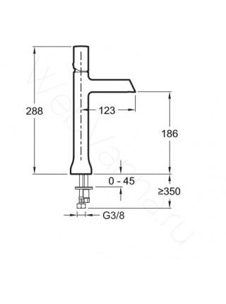 Смеситель для накладных раковин Jacob Delafon Toobi E8990-CP