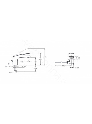 Смеситель для раковины Jacob Delafon Avid E97345-CP