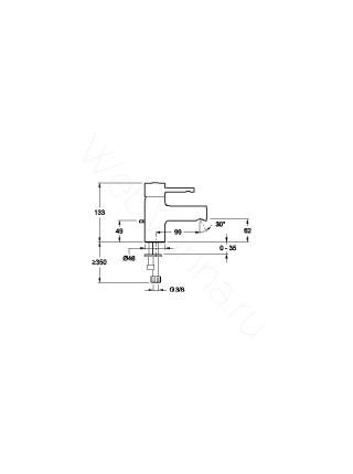 Смеситель для раковины Jacob Delafon Cuff E98297-CP