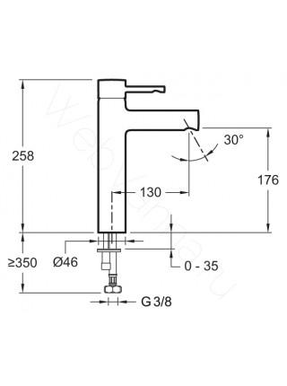 Смеситель для накладных раковин Jacob Delafon Cuff E98299-CP