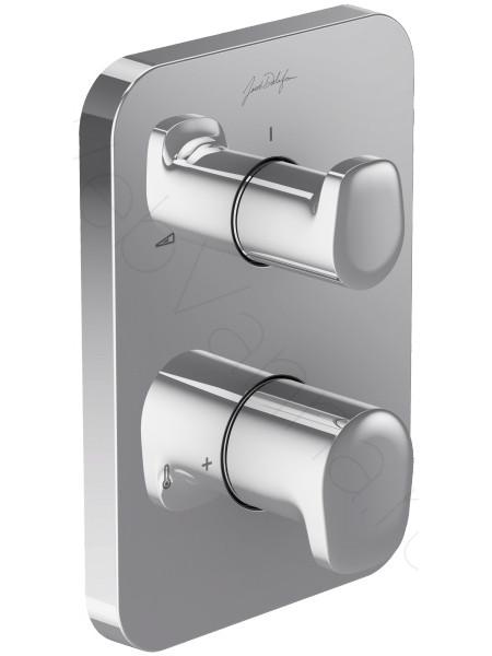 Смеситель для ванны и душа Jacob Delafon Hybrid E98726-CP=E75385-CP, термостат, встраиваемый