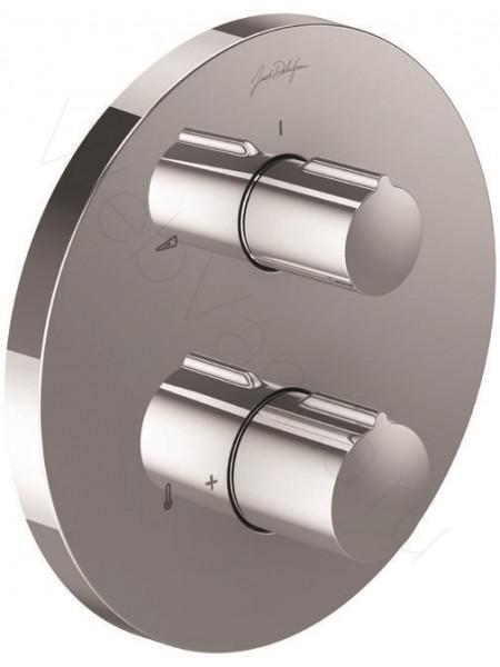 Смеситель для ванны и душа Jacob Delafon Round E98727-CP, термостат, встраиваемый