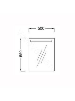 Зеркало Jacob Delafon Parallel EB1410-NF, 50 см, с подсветкой, анти-пар