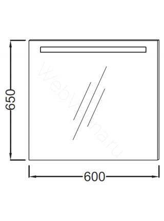 Зеркало Jacob Delafon Parallel EB1411-NF, 60 см, с подсветкой, анти-пар