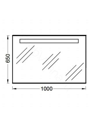 Зеркало Jacob Delafon Parallel EB1416-NF, 100 см, с подсветкой, анти-пар