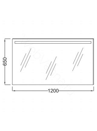 Зеркало Jacob Delafon Parallel EB1418-NF, 120 см, с подсветкой, анти-пар