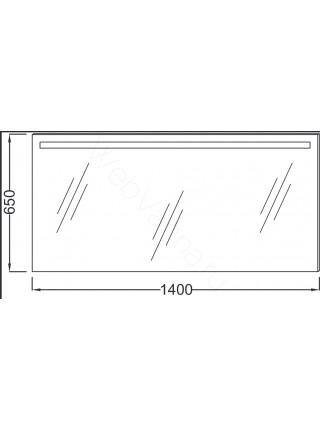 Зеркало Jacob Delafon Parallel EB1420-NF, 140 см, с подсветкой, анти-пар