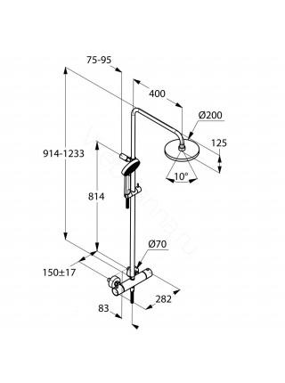 Душевая стойка Kludi A-QA 6609505-00, хром, термостат