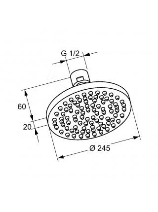Верхний душ Kludi A-QA 6651105-00