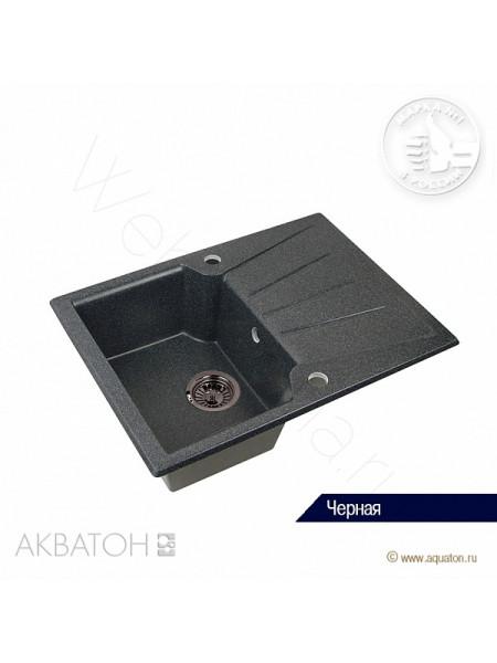"""Мойка кухонная Акватон """"МОНЦА"""" 68x50 черная"""