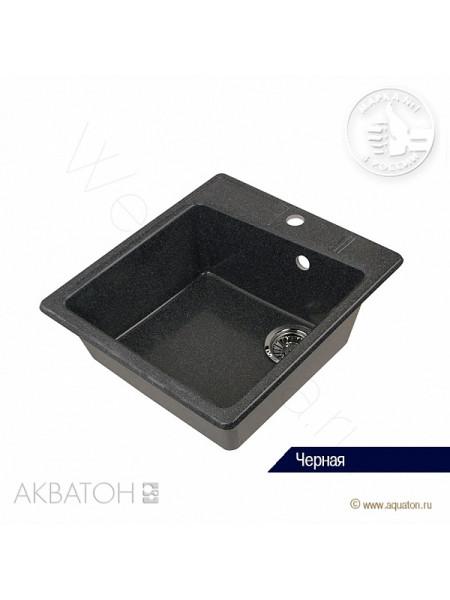 """Мойка кухонная Акватон """"ПАРМА"""" 47x51 черная"""