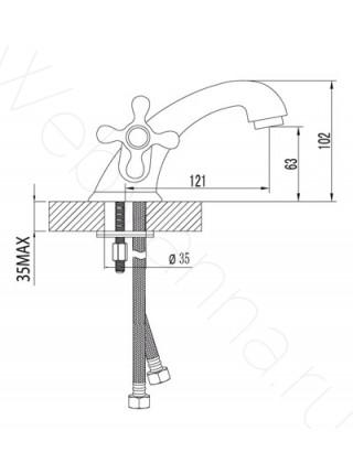 Смеситель для раковины Lemark Standard LM2106C