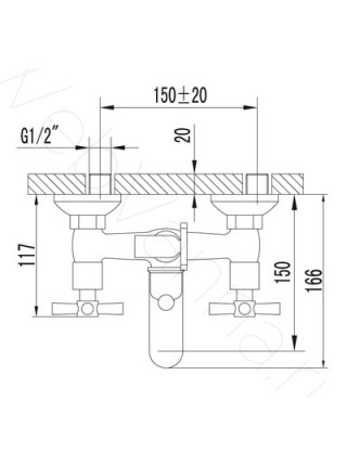Смеситель для ванны Lemark Neo LM2202C