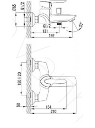 Смеситель для ванны Lemark Mars LM3502C
