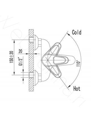 Смеситель для ванны Lemark Luna LM4102C