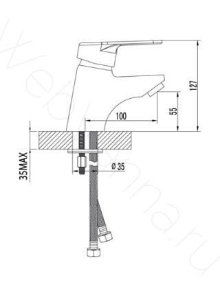 Смеситель для раковины Lemark Luna LM4106C