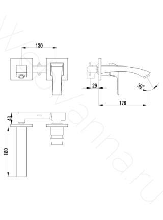 Смеситель для раковины Lemark Unit LM4526C встраиваемый