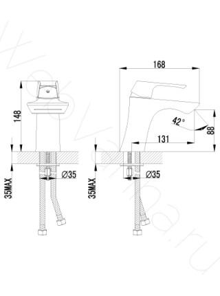 Смеситель для раковины Lemark Unit LM4546C