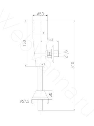 Смеситель для писсуара Lemark LM4654CE бесконтактный