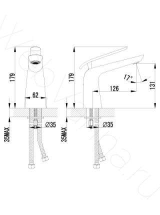 Смеситель для раковины Lemark Melange LM4906CW