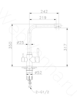 Смеситель для кухни Lemark Expert LM5060S с подключением к фильтру