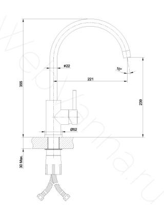 Смеситель для кухни Lemark Expert LM5078S нерж. сталь