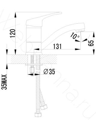 Смеситель для раковины Lemark Omega LM3107C