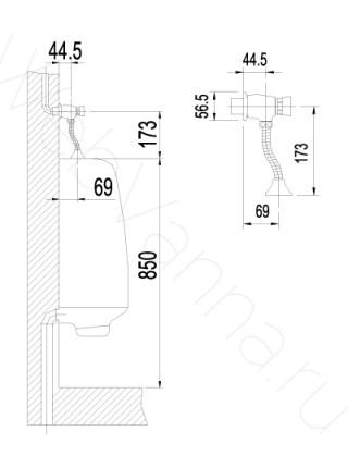 Смывное устройство для писсуара Lemark Projekt LM4612C