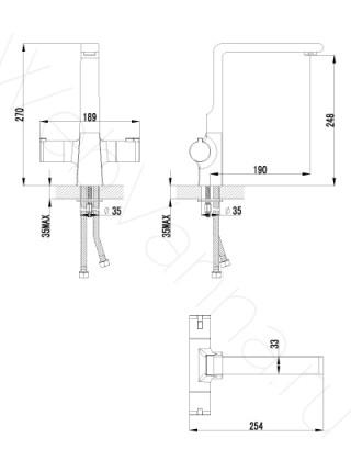 Смеситель для кухни термостатический Lemark Yeti LM7835C