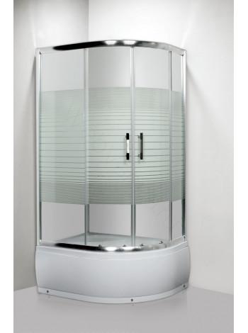 Душевой угол Luxus Lang L013 100x80, левый, правый, стекло с принтом