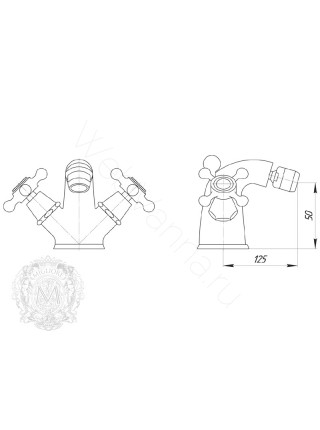 Смеситель для биде Migliore Beatrice ML.BTC-144 CR