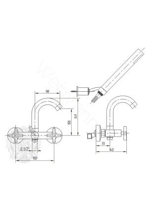Смеситель для ванны Migliore Naxos ML.NAX-7602
