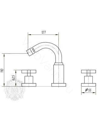 Смеситель для биде Migliore Naxos ML.NAX-7625