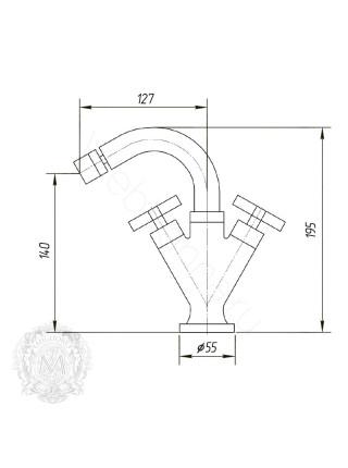 Смеситель для биде Migliore Naxos ML.NAX-7644